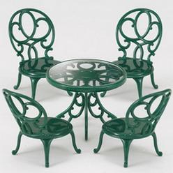 ซิลวาเนียน ชุดโต๊ะสนามสีเขียว Sylvanian Families Ornate Garden Chair