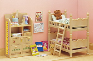 ซิลวาเนียน เฟอร์นิเจอร์ห้องนอนเด็ก (EU) Sylvanian Families Children Bedroom Set
