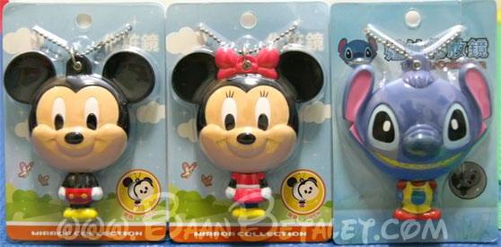 กระจกมิกกี้/มินนี่/สติทช์ (Mickey,Minie,Stitch Big Face Mirror)