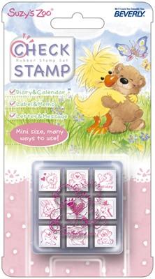 ตัวปั๊มฐานไม้จิ๋วหมีซูซี่พร้อมกล่อง (Suzy's Zoo Mini Stamper)