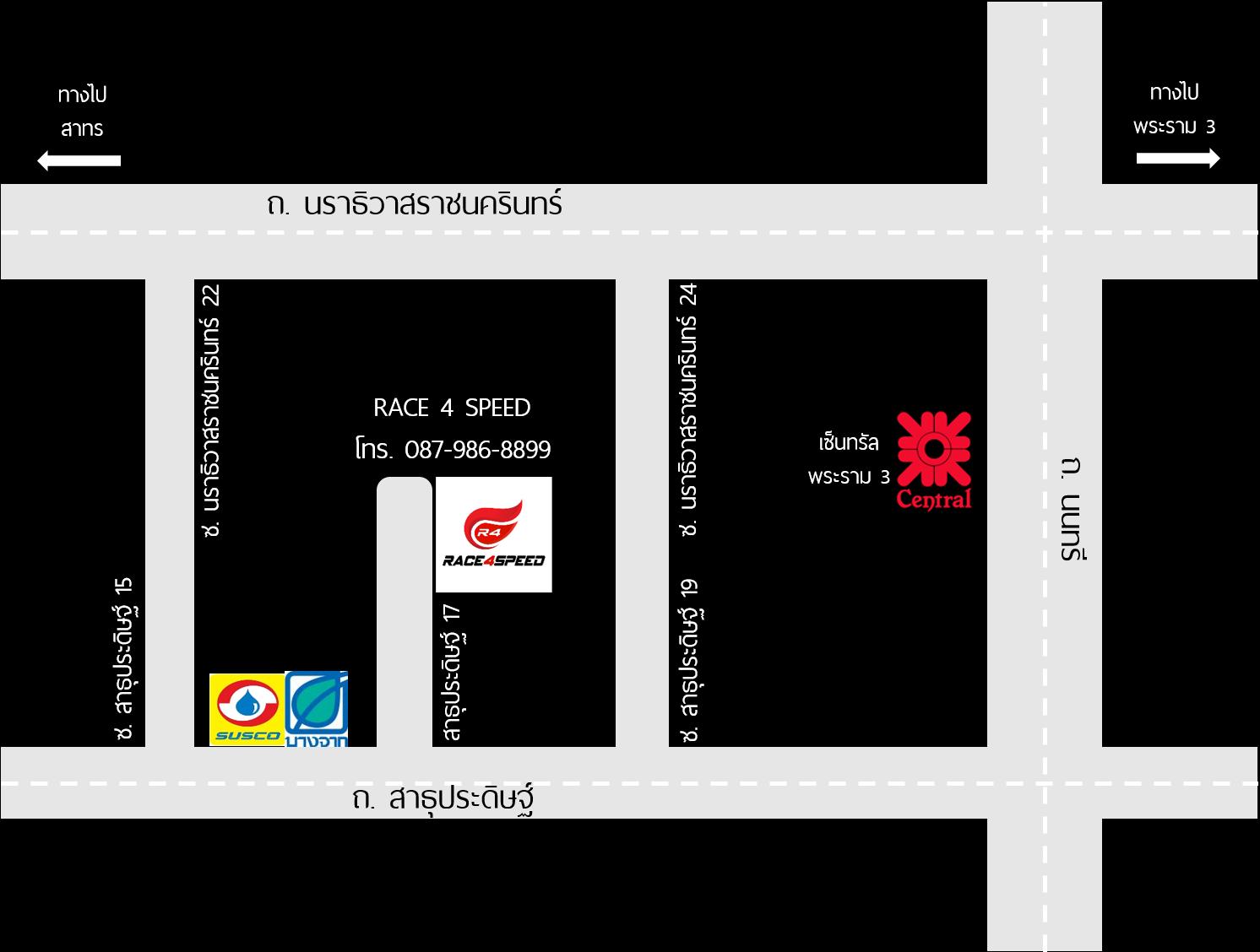 แผนที่ร้าน race4speed
