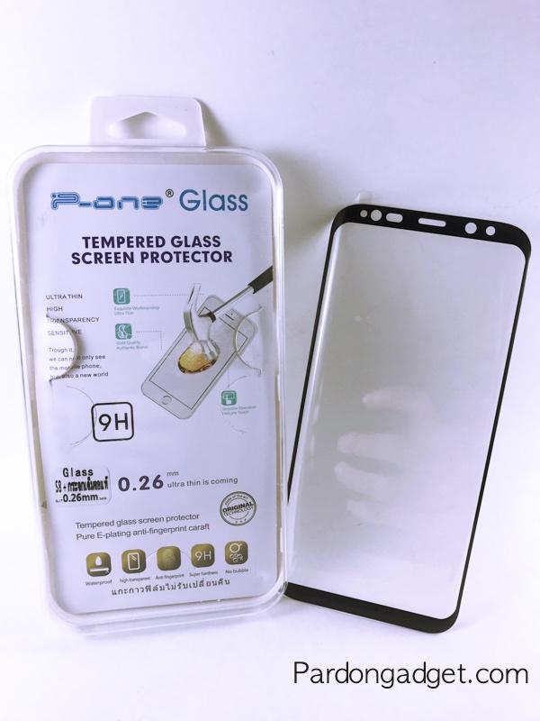 ฟิล์มกระจก S8 Plus เต็มจอ สีดำ