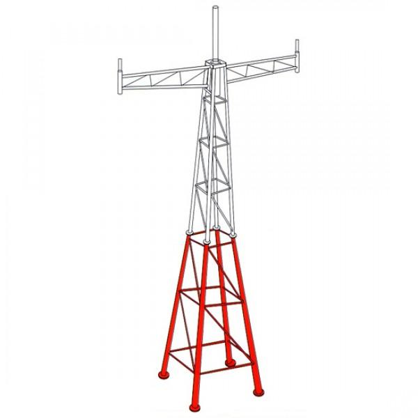 เสาทาวเวอร์ เสาอากาศ ขาวแดง สูง 3 เมตร มีปีก