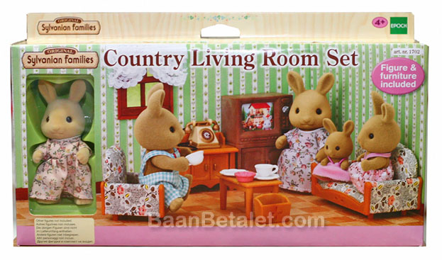 ซิลวาเนียน ชุดห้องนั่งเล่นกับแม่กระต่าย (EU) Sylvanian Families Country Living Room Set