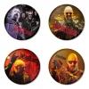 ของที่ระลึกวง Judas Priest เลือกด้านหลังได้ 4 แบบ เข็มกลัด, แม่เหล็ก, กระจกพกพา หรือ พวงกุญแจที่เปิดขวด 1 แพ็ค 4 ชิ้น [5]