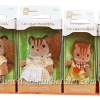 ครอบครัวซิลวาเนียน กระรอกวอลนัท 4 ตัว (JP) Sylvanian Walnut Squirrel Family