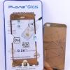 ฟิล์มกระจก(ฟิล์มกันรอย) 3 มิติ Iphone 5/5S/5SE สี Rose Gold 2in1 (หน้า-หลัง)