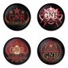 ของที่ระลึกวง Guns N Roses เลือกด้านหลังได้ 4 แบบ เข็มกลัด, แม่เหล็ก, กระจกพกพา หรือ พวงกุญแจที่เปิดขวด 1 แพ็ค 4 ชิ้น [8]