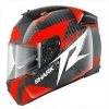SHARK SPEED-R 2 CARBON RUN Black red white