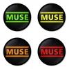 ของที่ระลึกวง Muse เลือกด้านหลังได้ 4 แบบ เข็มกลัด, แม่เหล็ก, กระจกพกพา หรือ พวงกุญแจที่เปิดขวด 1 แพ็ค 4 ชิ้น [15]