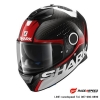SHARK SPARTAN CARBON CLIFF Carbon Red White