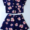 ชุดเซทเสื้อ+กระโปรงลายดอกไม้