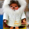 ตุ๊กตาลิงมอนจิจิในชุดกันหนาวสีขาว (Dressed Monchhichi 20cm Down Coat Boy)