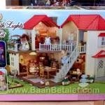 บ้านตุ๊กตาซิลวาเนียนพร้อมเฟอร์นิเจอร์ (EU) Sylvanian Families City House with Lights Gift Set B