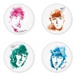 ของที่ระลึกวง The Beatles เลือกด้านหลังได้ 4 แบบ เข็มกลัด, แม่เหล็ก, กระจกพกพา หรือ พวงกุญแจที่เปิดขวด 1 แพ็ค 4 ชิ้น [1]