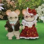 ซิลวาเนียน คุณปู่คุณย่าหนูเมซ (UK) Sylvanian Families Maces Mouse Grandparents