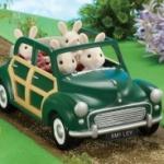 รถครอบครัวซิลวาเนียนสีเขียว (JP) Sylvanian Families Green Family Car