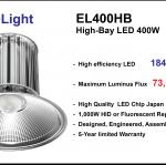 โคมไฟ Highbay LED ประหยัดไฟสูงสุด รุ่น EL400HB