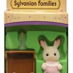 ซิลวาเนียน เบบี้กระต่ายช็อคโกแลต+ขวดนม (EU) Sylvanian Families Chocolate Rabbit Baby with Bottle
