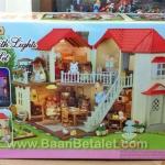 บ้านตุ๊กตาซิลวาเนียนพร้อมเฟอร์นิเจอร์ (EU) Sylvanian Families City House with Lights Gift Set C