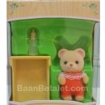 ซิลวาเนียนเบบี้หมีส้ม+เปล (EU) Sylvanian Families Bear Baby