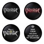 ของที่ระลึกวง Bullet for my Valentine เลือกด้านหลังได้ 4 แบบ เข็มกลัด, แม่เหล็ก, กระจกพกพา หรือ พวงกุญแจที่เปิดขวด 1 แพ็ค 4 ชิ้น [4]