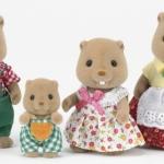ครอบครัวซิลวาเนียน บีเวอร์ 4 ตัว (JP) Sylvanian Families Beaver Family