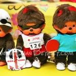 ตุ๊กตาลิงมอนจิจิรุ่นฉลอง 30 ปี ในชุดว่ายน้ำ 7 นิ้ว (30th Anniversary Monchhichi Plush)