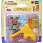 ซิลวาเนียนเบบี้หนูกับไม้ลื่น (EU) Sylvanian Families Mouse Baby with Slide