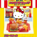 [SOLD OUT] รีเม้นอาหารจำลอง ชุดร้านคิตตี้เบอเกอร์ 8 แบบ Re-ment Hello Kitty Burger Shop