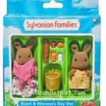 ซิลวาเนียน ชุดหนูน้ำตาลไปจ่ายตลาด (UK) Sylvanian Families Hazel and Rhianna Day Out