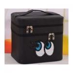 กระเป๋าเครื่องสำอาง big eyes double box สีดำ