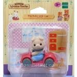 ซิลวาเนียนเบบี้หมูกับรถ (EU) Sylvanian Families Pig Baby with Car