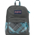 JanSport รุ่น Superbreak - Mammoth Blue/Sideways Plaid