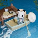 ซิลวาเนียน เรือแจวกับพี่สาวกระต่าย (UK) Sylvanian Families Rowing Boat and Accessories