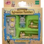 ซิลวาเนียน เบบี้กระต่ายคอตตอนกับรถไฟ (EU) Sylvanian Families Baby Leo Goes Train Trip