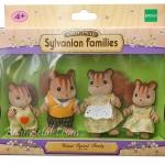 ครอบครัวซิลวาเนียน กระรอกวอลนัท 4 ตัว (EU) Sylvanian Walnut Squirrel Family