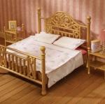 ซิลวาเนียน เตียงคู่สีทอง (UK) Sylvanian Families Luxury Brass Bed
