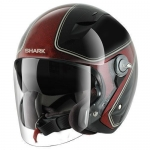 SHARK RSJ 3 SASSY Black Red Glitter