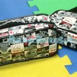 กระเป๋าเปิดทรงสี่เหลี่ยมลายตารางสติทช์ 17x10x5.5ซม. (Stitch TW-126FC)