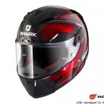 SHARK RACE-R PRO CARBON Deager / Carbon Chrom Red/DUR