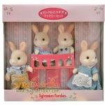 ครอบครัวซิลวาเนียน กระต่ายหิมะ 4 ตัว (JP) *LIMITED EDITION* Sylvanian Families Frost Pink Rabbit Family