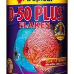 อาหารปลา TROPICAL D-50 Plus Flakes (สูตรเร่งสีปลาปอมปาดัวร์)
