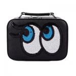 กระเป๋าเครื่องสำอาง big eyes mini สีดำ