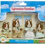 ครอบครัวซิลวาเนียน คุณหมาฮาวน์ 4 ตัว (UK) Sylvanian Families Hound Dog Family