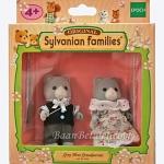 [หมดค่ะ] ซิลวาเนียน คุณตา-ยายหมีสีเทา (JP) Sylvanian Families Grey Bear Grandparents
