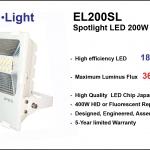 สปอร์ตไลท์ LED ประหยัดไฟสูงสุด รุ่น EL200SL