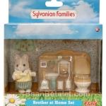 ซิลวาเนียน พี่ชายหมากับห้องน้ำ (UK) Sylvanian Families Brother at Home Set