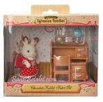ซิลวาเนียน พี่สาวกระต่ายช็อคโกแลตกับโต๊ะหนังสือ Sylvanian Chocolate Rabbit Sister & Desk
