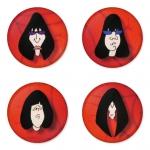 ของที่ระลึกวง Ramones เลือกด้านหลังได้ 4 แบบ เข็มกลัด, แม่เหล็ก, กระจกพกพา หรือ พวงกุญแจที่เปิดขวด 1 แพ็ค 4 ชิ้น [2]